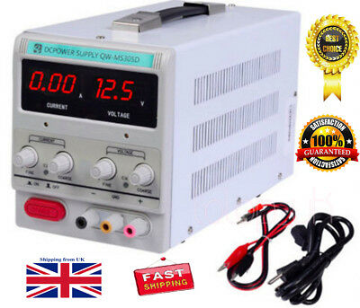 NEW QW-MS305D Adjustable Lab DC Bench Power Supply 0-30V 0-5A Variable Linear UK