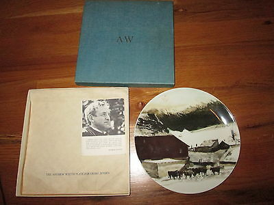Andrew Wyeth Plate - Georg Jensen, The Kuerner Farm 1971 Exc Cnd W Box Free SHIP