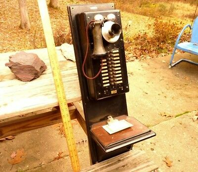 From a 1900's PRISON, antique Oak 20 station inter-Phone, visitor's area, Rare