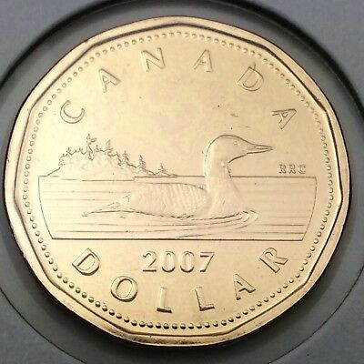 2007 Canada 1 One Dollar Loonie Brilliant Uncirculated Coin Not In Case D386