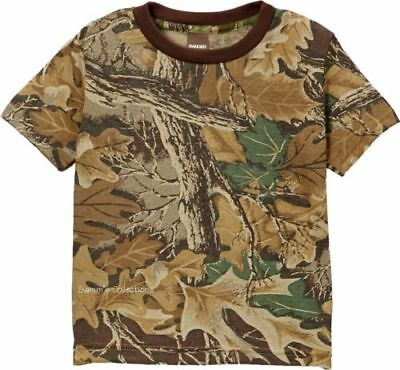 NWT Cream /& Realtree Hardwoods HD Short Sleeve Tee w//Deer Embroidery 0-6 Month