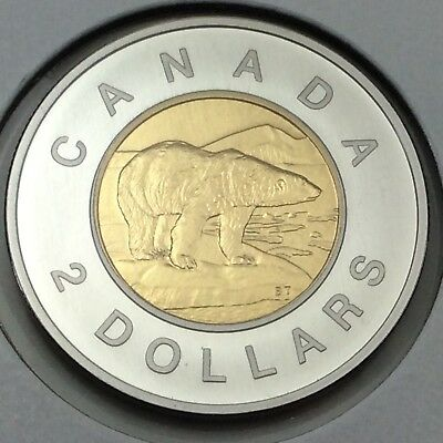 1996 Canada 2 Two Dollar Toonie Brilliant Uncirculated Coin Not In Case D389