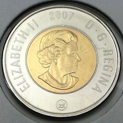 2007 Canada Two 2 Dollar Toonie Brilliant Uncirculated Coin Not In Case D391