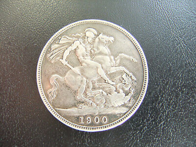 GREAT BRITAIN Crown 1900 Victoria, Silver,  St George and the Dragon