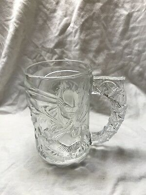 Batman Forever Clear Glass McDonalds Mug, 1995