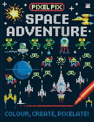 Pixel Space Adventure Colouring Book, New