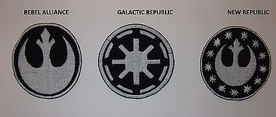 STAR WARS  aufnaher, applikationen , patches REBEL ALLIANCE ,GALACTIC REPUBLIC