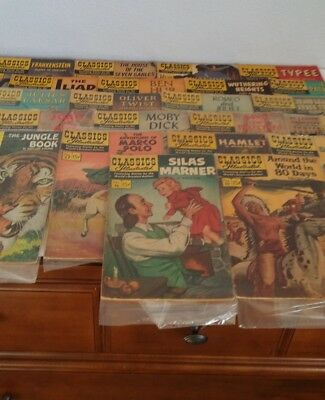 Lot Of 22 Vintage Classics Illustrated Comic Books Gilberton 1940s-1950s