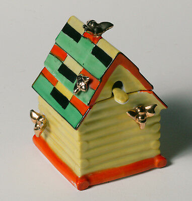 Vintage Art Deco NORITAKE HONEY HOUSE - Multi Colored w/Figural Bees- Rare Spoon