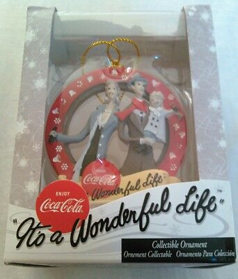 """Coca-Cola """"it's A Wonderful Life"""" Handcrafted Resin Ornament"""