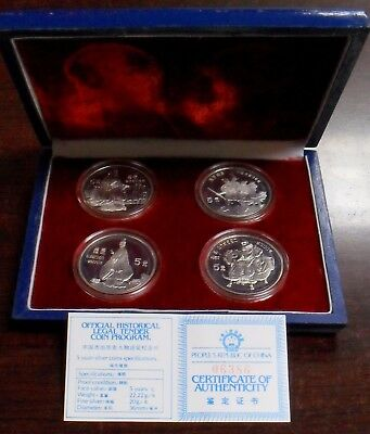 Responsible 4pc China 1990 World Cultural Figures Silver Coins China