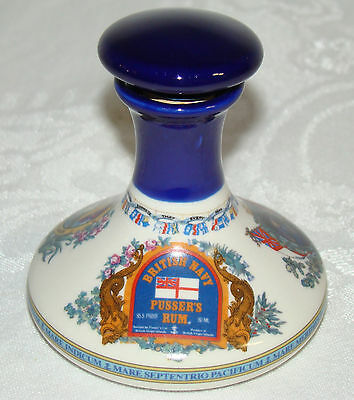 Pussers 50ml Mini Porcelain Ships Decanter Britains Never Shall Be Slaves # 2