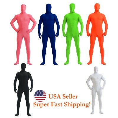 DH Zentai Suit Men's Spandex Lycra Halloween Full Body Face Covered Costume
