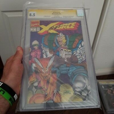 X-Force #1 CGC 8.5 Signed Rob Liefeld + SIGNED CARD