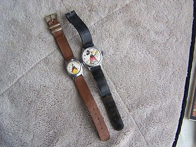 Vintage MICKEY MOUSE & SNOW WHITE character watches (2) by Ingersoll 1935-1950