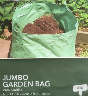 New Jumbo Garden Large Strong Rubbish Storage Waste Lawn Bag Sack With Handles