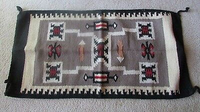 """Navajo Indian Designed 20 """"by 38 1/2"""""""" Storm Pattern Style Wool Rug!!Gorgeous!"""