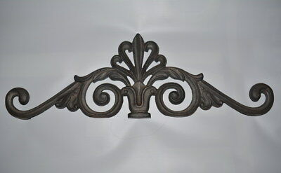 Large Cast Iron Decorative Scrollwork Pediment Door Window Wall Hanging 22""