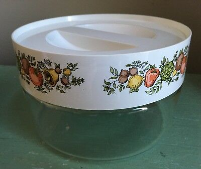 """Vintage Pyrex Food Storage Container Canister Locking Lid Spice of Life 3 7/8"""" T"""