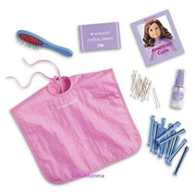 New American Girl doll's Salon Hair Care Kit~Spa Cape~Rollers~Brush~Cyber SALE