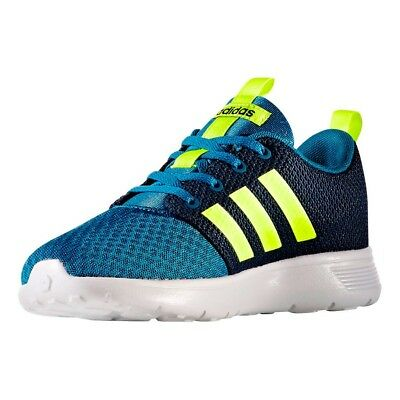 New Adidas Boys Kids Youth Shoe Swifty K Blue/Green/White AQ1694 - FREE SHIP