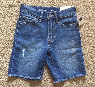 Boy's Size 6 Regular Gap Kids 1969 Frayed Distressed Denim Jean Shorts