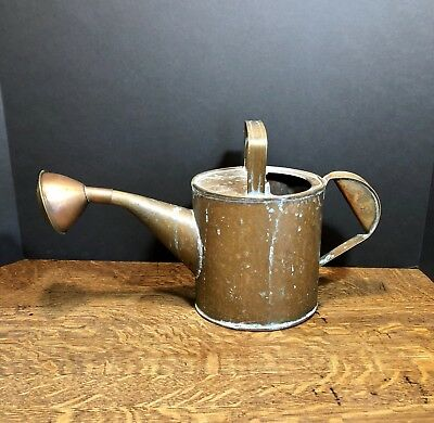 Antique Copper- Hand Hammered And Finger Jointed Watering Can