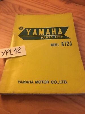 Yamaha parts list 125 AT2  first edition 1971 catalogue pièce détachée