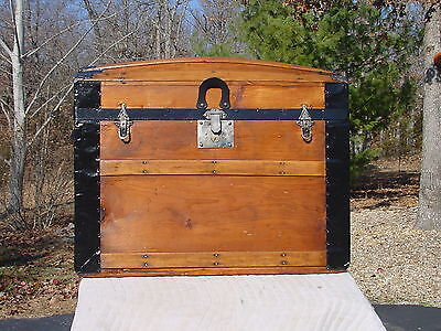 Antique Trunk Circa 1870's to 80's Nice Restoration! As Much As 138 Years Old!