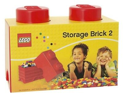 LEGO Brick 2 Knobs Stackable 2.6 Litre Storage Box - Red  A