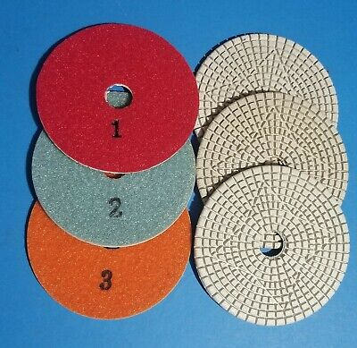 3-Step Diamond Polishing Pads for Quartz Engineered Stone Wet Polishing