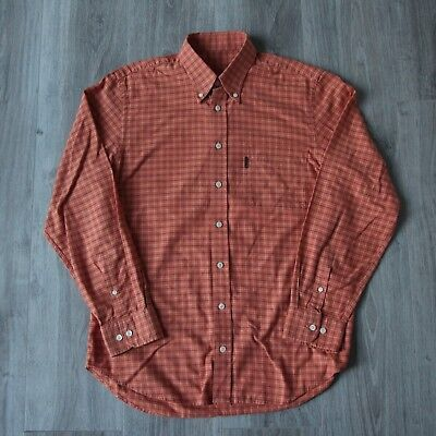 Vintage Mens Barbour Long Sleeve Shirt M Check International Beacon Brand