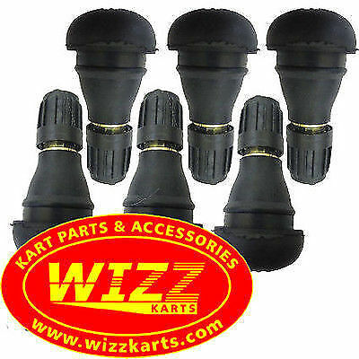 Pack of 6 Short Wheel Valves High Quality  FREE POSTAGE WIZZ KARTS