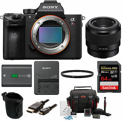 Sony Alpha a7RIII Mirrorless Digital Camera Bundle with Sony FE 50mm f/1.8 Lens