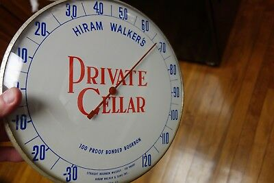 NICE Vinatge Hiran Walker's PRIVATE CALLER 100 Proof Bourbon Whiskey Thermometer