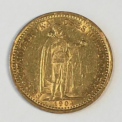 1904 Hungary 10 Korona Gold Coin - High Quality Scans #D005