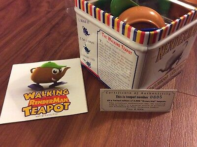 Pixar Animation Studio Renderman Green Hat walking teapot Siggraph #605 LE2000