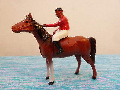 Vintage Antique Cast Metal Toy Horse And Jockey/rider