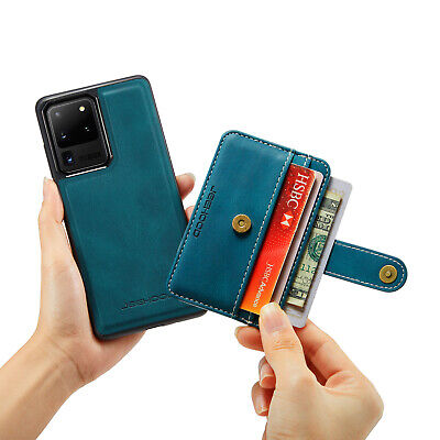 For Samsung Galaxy S9+/S8/Note9 Leather Card Holder Wallet Case Shockproof Cover