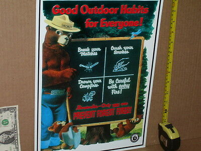 SMOKEY THE BEAR being a Teacher - With Tips To Prevent FOREST FIRE -> Great Sign