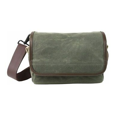 Domke F-5XB RuggedWear Camera Bag Shoulder Belt Strap Military Green Brown Trim