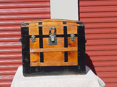 Antique Trunk   A Majestic Restoration  Very Nice  130 P[us Years Old