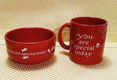 WAECHTERSBACH Germany Red You Are Special Cereal Soup Bowl Grandpa Mug Excellent