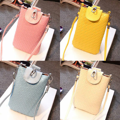 Lady Skin Cover Neck Strap Sleeve Case Pouch KeyChain Bag For Mobile Phone Bags