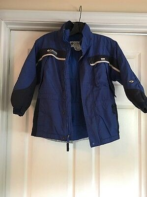 Columbia Boy's Winter Snow Jacket Blue Size 8