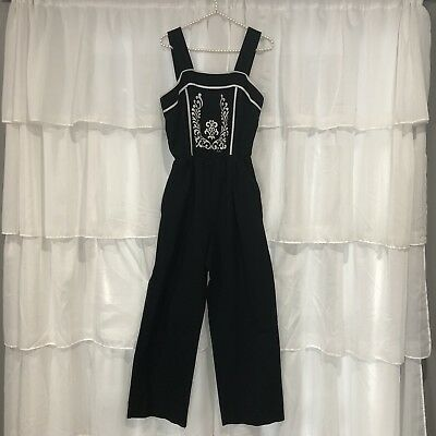 14 L Vtg 70s ALFRED SHAHEEN California Hawaii Pantsuit Playsuit Jumpsuit Signed