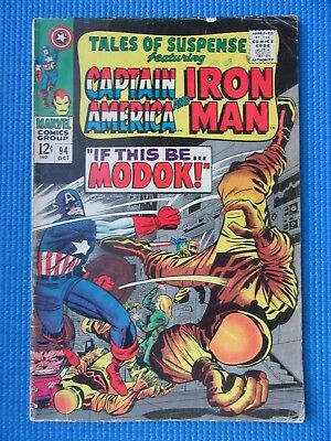 Tales Of Suspense # 94 - (Vg+) - Iron Man, Captain America - If This Be Modok