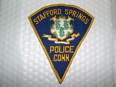Stafford Springs Police Connecticut O/s