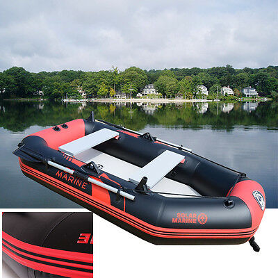 2 Person Outdoor Fishing Inflatable Boat Kayak Canoe Raft Oars Foot Pump Sports
