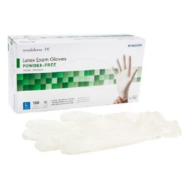McKesson Confiderm PC Latex Exam Gloves Powder Free 100 pack, Choose S, M, L